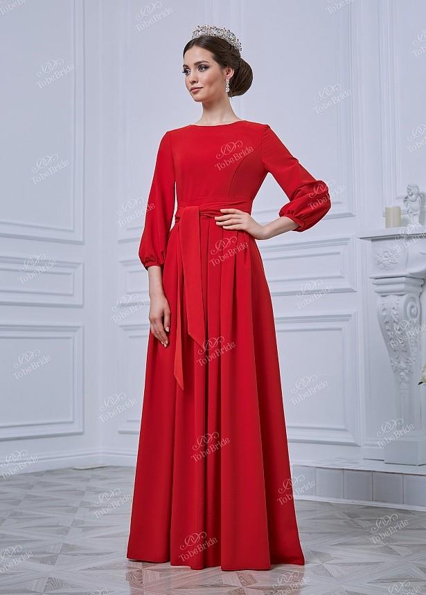 796dc9c273fca Купить платье в пол с поясом и длинным рукавом nd093b в интернет ...